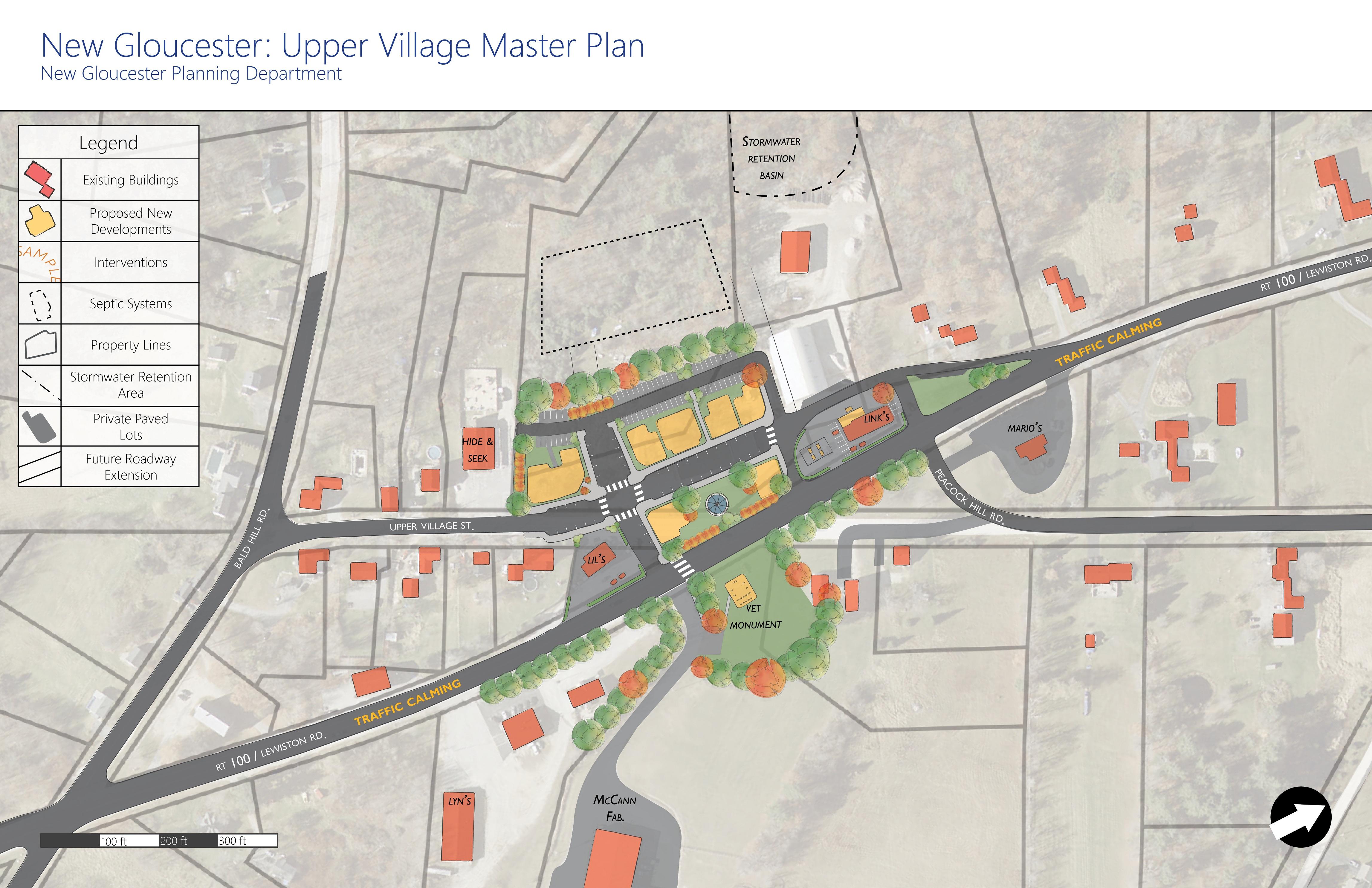 Upper Village Master Plan New Gloucester Maine